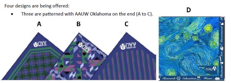 AAUW/OK scarves